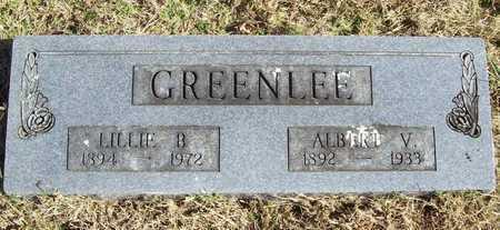 GREENLEE, ALBERT V - Washington County, Arkansas | ALBERT V GREENLEE - Arkansas Gravestone Photos