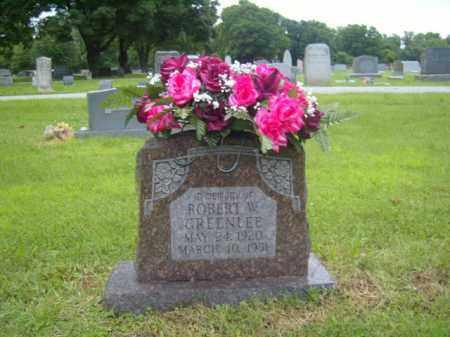 GREENLEE, ROBERT W. - Washington County, Arkansas | ROBERT W. GREENLEE - Arkansas Gravestone Photos