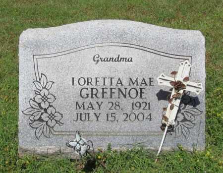 GREENOE, LORETTA MAE - Washington County, Arkansas | LORETTA MAE GREENOE - Arkansas Gravestone Photos
