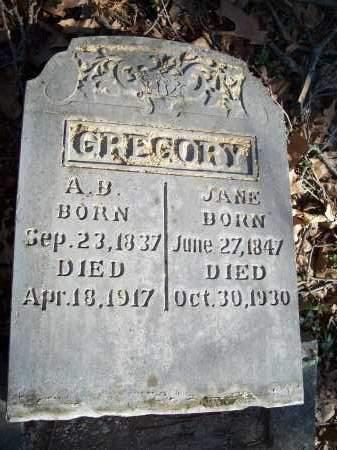 GREGORY, A.B. - Washington County, Arkansas | A.B. GREGORY - Arkansas Gravestone Photos