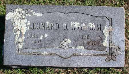 GRISCOM, LEONARD D. - Washington County, Arkansas | LEONARD D. GRISCOM - Arkansas Gravestone Photos