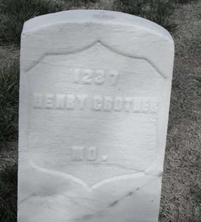 GROTHER (VETERAN UNION), HENRY - Washington County, Arkansas | HENRY GROTHER (VETERAN UNION) - Arkansas Gravestone Photos