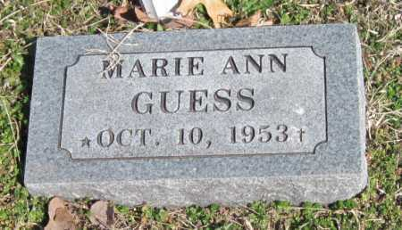 GUESS, MARIE ANN - Washington County, Arkansas | MARIE ANN GUESS - Arkansas Gravestone Photos