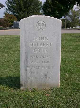 GYTE (VETERAN WWII), JOHN DELBERT - Washington County, Arkansas | JOHN DELBERT GYTE (VETERAN WWII) - Arkansas Gravestone Photos
