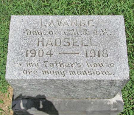 HADSELL, LAVANGE - Washington County, Arkansas | LAVANGE HADSELL - Arkansas Gravestone Photos