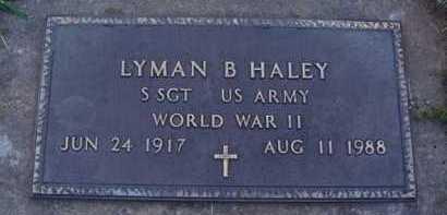 HALEY  (VETERAN WWII), LYMAN B. - Washington County, Arkansas   LYMAN B. HALEY  (VETERAN WWII) - Arkansas Gravestone Photos