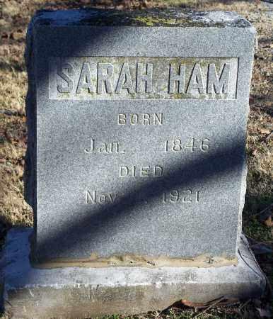 HAM, SARAH - Washington County, Arkansas   SARAH HAM - Arkansas Gravestone Photos