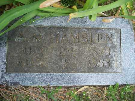 HAMBLEN, A.M. - Washington County, Arkansas | A.M. HAMBLEN - Arkansas Gravestone Photos