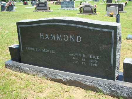 "HAMMOND, CALVIN R ""DICK"" - Washington County, Arkansas | CALVIN R ""DICK"" HAMMOND - Arkansas Gravestone Photos"