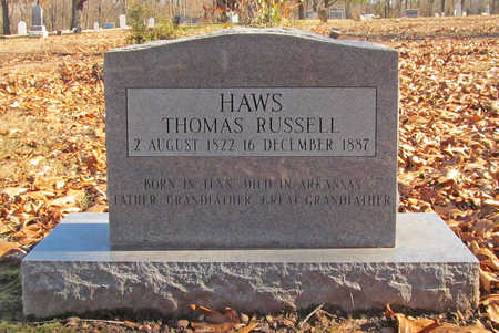 HAWS, THOMAS RUSSELL - Washington County, Arkansas | THOMAS RUSSELL HAWS - Arkansas Gravestone Photos
