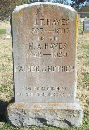 HAYES, M A - Washington County, Arkansas   M A HAYES - Arkansas Gravestone Photos