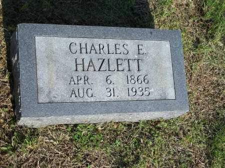 HAZLETT, CHARLES E. - Washington County, Arkansas | CHARLES E. HAZLETT - Arkansas Gravestone Photos