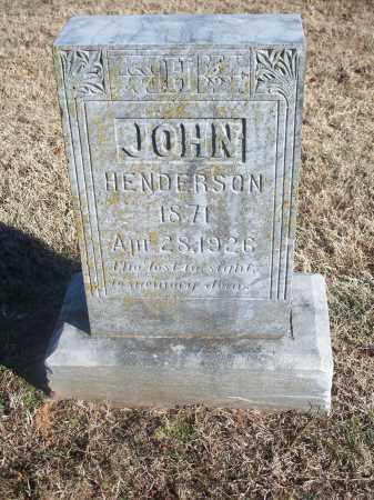 HENDERSON, JOHN - Washington County, Arkansas | JOHN HENDERSON - Arkansas Gravestone Photos
