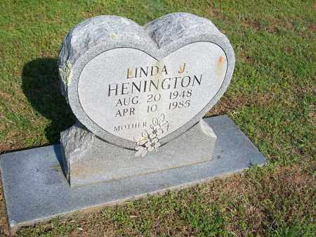 HENINGTON, LINDA J. - Washington County, Arkansas | LINDA J. HENINGTON - Arkansas Gravestone Photos