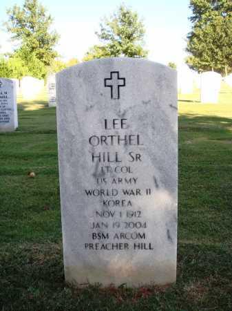 HILL, SR  (VETERAN 2 WARS), LEE ORTHEL - Washington County, Arkansas   LEE ORTHEL HILL, SR  (VETERAN 2 WARS) - Arkansas Gravestone Photos