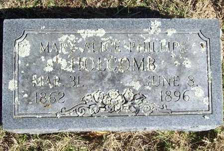 HOLCOMB, MARY ALICE - Washington County, Arkansas | MARY ALICE HOLCOMB - Arkansas Gravestone Photos