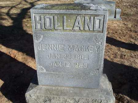 MACKEY HOLLAND, JENNIE - Washington County, Arkansas | JENNIE MACKEY HOLLAND - Arkansas Gravestone Photos