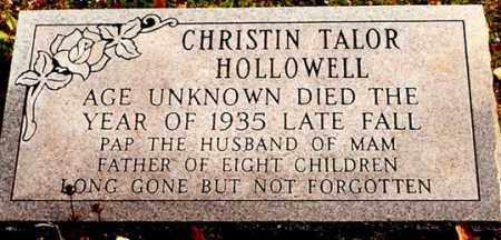 HOLLOWELL, CHRISTIAN TAYLOR - Washington County, Arkansas   CHRISTIAN TAYLOR HOLLOWELL - Arkansas Gravestone Photos