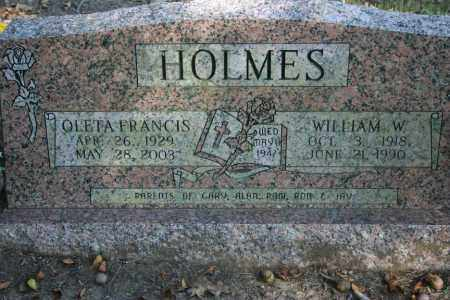 HOLMES, OLETA FRANCIS - Washington County, Arkansas   OLETA FRANCIS HOLMES - Arkansas Gravestone Photos