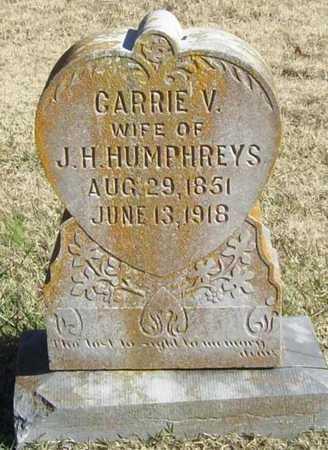 HUMPHREYS, CARRIE V - Washington County, Arkansas   CARRIE V HUMPHREYS - Arkansas Gravestone Photos