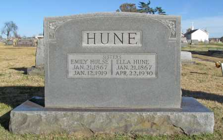 HUNE, EMILY - Washington County, Arkansas | EMILY HUNE - Arkansas Gravestone Photos