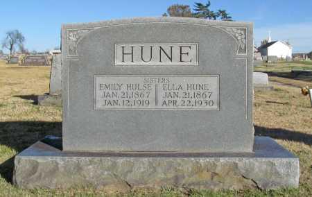 HUNE, ELLA - Washington County, Arkansas | ELLA HUNE - Arkansas Gravestone Photos