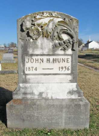 HUNE, JOHN H. - Washington County, Arkansas | JOHN H. HUNE - Arkansas Gravestone Photos
