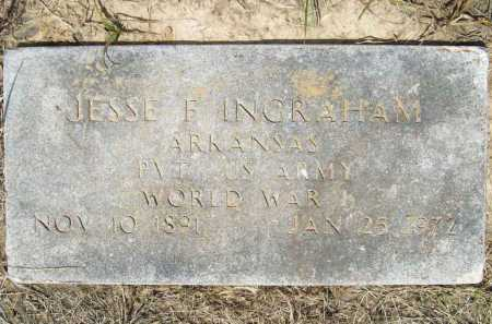 INGRAHAM (VETERAN WWI), JESSE FRANKLIN - Washington County, Arkansas | JESSE FRANKLIN INGRAHAM (VETERAN WWI) - Arkansas Gravestone Photos