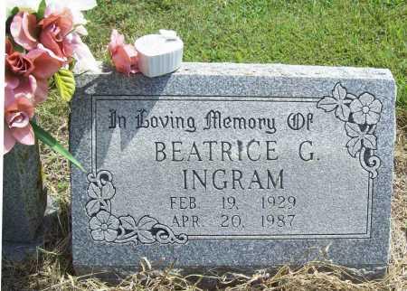 INGRAM, BEATRICE G - Washington County, Arkansas   BEATRICE G INGRAM - Arkansas Gravestone Photos