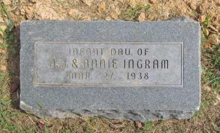 INGRAM, INFANT DAUGHTER - Washington County, Arkansas | INFANT DAUGHTER INGRAM - Arkansas Gravestone Photos