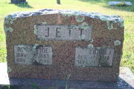FINE JETT, ANNA - Washington County, Arkansas | ANNA FINE JETT - Arkansas Gravestone Photos