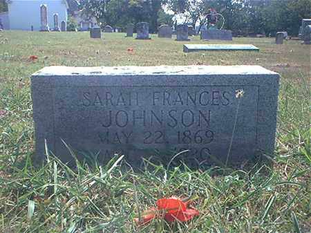 JOHNSON, SARAH FRANCIS (FANNIE) - Washington County, Arkansas | SARAH FRANCIS (FANNIE) JOHNSON - Arkansas Gravestone Photos
