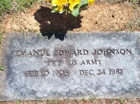 JOHNSON (VETERAN), EMANUL EDWARD - Washington County, Arkansas | EMANUL EDWARD JOHNSON (VETERAN) - Arkansas Gravestone Photos