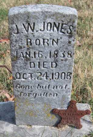 JONES  (VETERAN CSA), J. W. - Washington County, Arkansas   J. W. JONES  (VETERAN CSA) - Arkansas Gravestone Photos