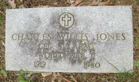 JONES  (VETERAN WWII), CHARLES WILLIS - Washington County, Arkansas | CHARLES WILLIS JONES  (VETERAN WWII) - Arkansas Gravestone Photos