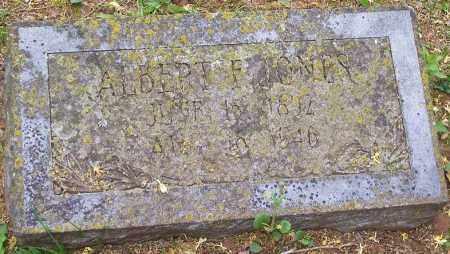 JONES, ALBERT F. - Washington County, Arkansas   ALBERT F. JONES - Arkansas Gravestone Photos