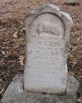 JONES, ALEN - Washington County, Arkansas   ALEN JONES - Arkansas Gravestone Photos