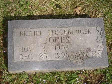 STOCKBURGER JONES, BETHEL - Washington County, Arkansas | BETHEL STOCKBURGER JONES - Arkansas Gravestone Photos