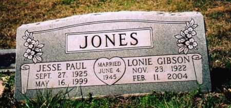 GIBSON JONES, LONIE G. - Washington County, Arkansas | LONIE G. GIBSON JONES - Arkansas Gravestone Photos