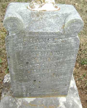 JORDAN, FRANCES ANN - Washington County, Arkansas | FRANCES ANN JORDAN - Arkansas Gravestone Photos