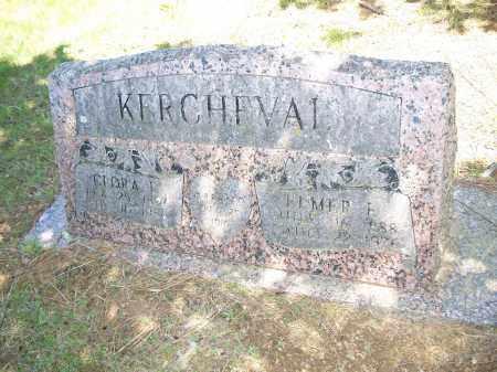 KERCHEVAL, ELMER E. - Washington County, Arkansas | ELMER E. KERCHEVAL - Arkansas Gravestone Photos