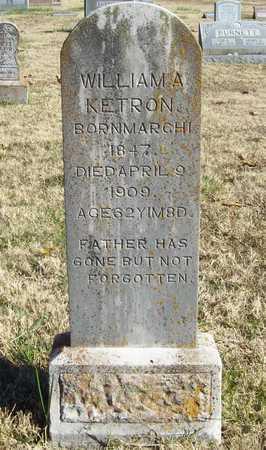 KETRON, WILLIAM A - Washington County, Arkansas | WILLIAM A KETRON - Arkansas Gravestone Photos