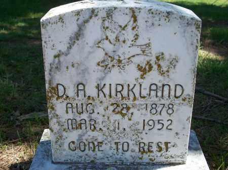 KIRKLAND, D. A. - Washington County, Arkansas | D. A. KIRKLAND - Arkansas Gravestone Photos