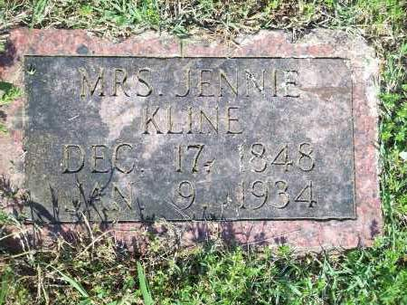 KLINE, JENNIE, MRS. - Washington County, Arkansas | JENNIE, MRS. KLINE - Arkansas Gravestone Photos