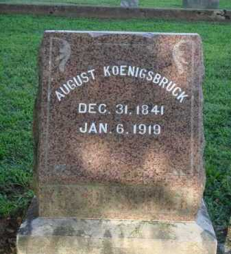 KOENIGSBRUCK, AUGUST - Washington County, Arkansas | AUGUST KOENIGSBRUCK - Arkansas Gravestone Photos