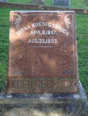KOENIGSBRUCK, MINNA - Washington County, Arkansas | MINNA KOENIGSBRUCK - Arkansas Gravestone Photos