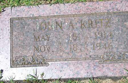 KRITZ, JOHN A. - Washington County, Arkansas | JOHN A. KRITZ - Arkansas Gravestone Photos