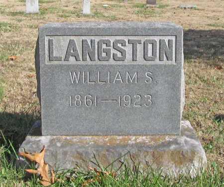 LANGSTON, WILLIAM S - Washington County, Arkansas   WILLIAM S LANGSTON - Arkansas Gravestone Photos