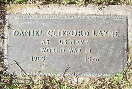 LAYNE (VETERAN WWII), DANIEL CLIFFORD - Washington County, Arkansas | DANIEL CLIFFORD LAYNE (VETERAN WWII) - Arkansas Gravestone Photos
