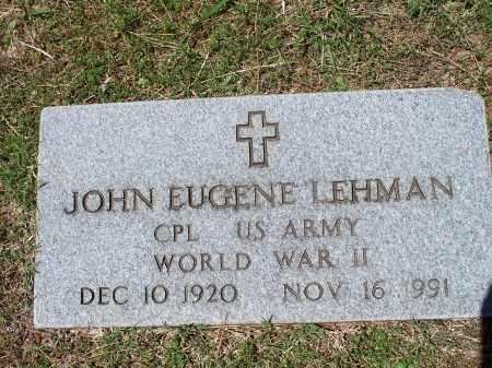 LEHMAN, SR (VETERAN WWII), JOHN EUGENE - Washington County, Arkansas   JOHN EUGENE LEHMAN, SR (VETERAN WWII) - Arkansas Gravestone Photos